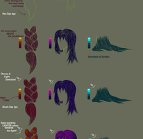 Hair Braids, Coloring and Shading Tutorial by apriclty