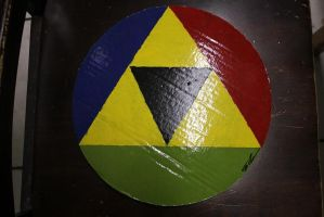 Triforce Wall Disc by KittenKreationsTampa