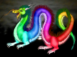 Rainbow dragon by MaritaS97