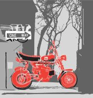 Retro motor bike by vectorrobot