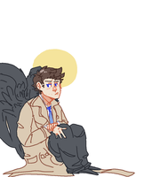 Castiel by BlueMagnet