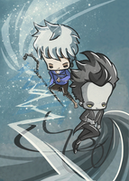 Jack Frost and Pitch by drwarumono