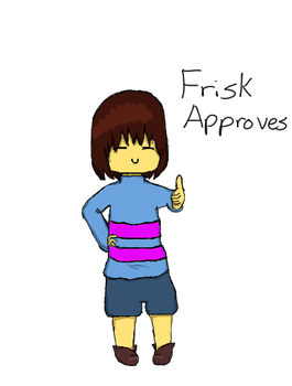 Frisk Approves by Blackdralion2