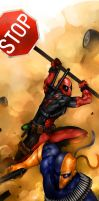 Deadpool v Deathstroke by DarrenGeers