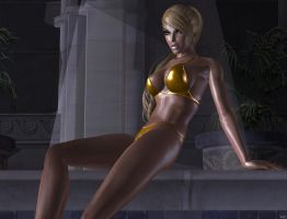 blonde lara hot by 7ipper
