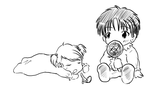 Baby Roy and Riza by yumeruby