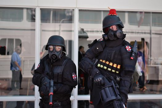 Umbrella Corp Soldiers at Anime Revoluton 2014 by Hxes