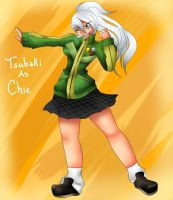 Tsubaki as Chie by BrownieTheif