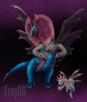 Realistic Hydreigeon colored by Frey06