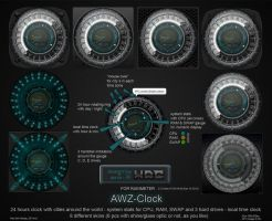 AWZ-Clock (for Rainmeter) by d4fmac