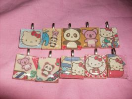 Hello Kitty Charms by Wolfriderxangel