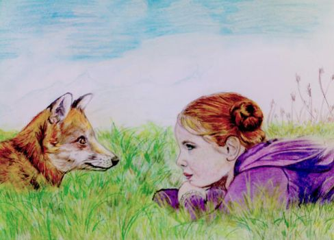 The fox and the kid by Soulbound22