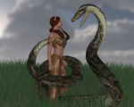 Snake in the grass by AmethystPendant