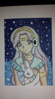 Special ACEO 005 - Sailor Frigoris and Hina by TenshiNeera