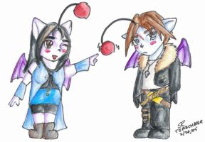 Squall and Rinoa - Moogle Poke by timechaser
