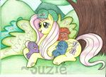 Fluttershy and the bushwoolies by suzie-chan