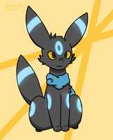 Shiny Umbreon by thelanternfishisamaz