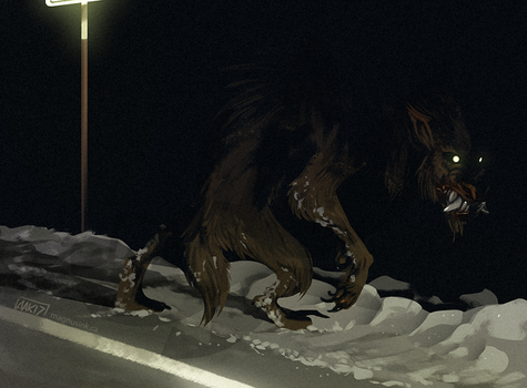 Scary Dog 9 by weremagnus