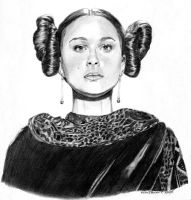 Padme with Leia Hairdo by khinson