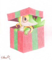 Christmas Snivy by StarInTheDarkness