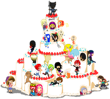 Giant Cake Collab - Partially Filled by juanito316ss