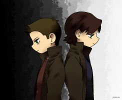 Sam And Dean (Supernatural) by AmazingKim-Chan
