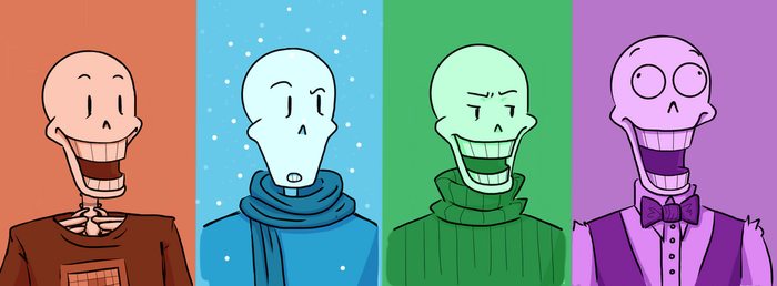 Papyrus Facial Expressions Practice by SilverLulaby