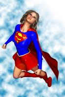 Supergirl Soaring by FredAckerman