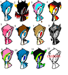 12 adoptables -open- by OneSweetGirl