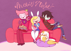 Fionna, Cake, Prince Gumball and Marshall lee by SakikoAmana