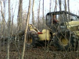 Skidder in action by bleedingpyre