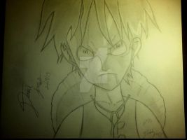 Serious Luffy :3! by Artisticgram