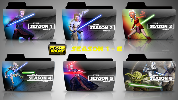 Star Wars The Clone Wars : TV Folder Icons by rohithkumarsp