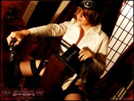 DeathNote Steampunk Burlesque4 by Maru-Light