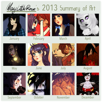 Art Summary 2013 by MaryLittleRose