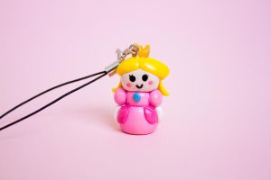 Princess Peach Phone Charm by theaquallama