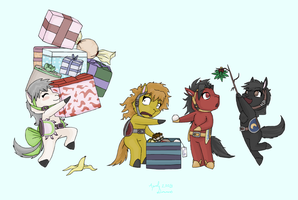 Dynasty Holiday Horses by MintyDreams7
