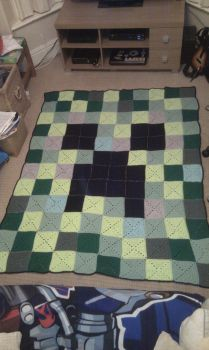 Minecraft Creeper Blanket by Riala