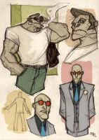 Killer Croc and Mr Freeze Rockabilly by DenisM79