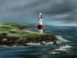 Scotland Lighthouse by Casselloma