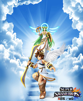 Super Smash Bros. Wii U / 3DS - Pit and Palutena by Legend-tony980
