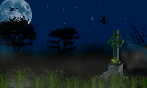 Creppy Night Premade Background by SusanaDS-Stocks