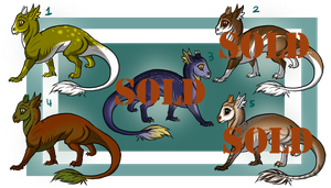 Baby Dragons [Sale!] by ResidualAdopts