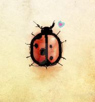 a ladybug in love by madewithsadness