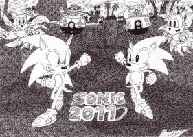 Sonic Generations Poster by TheCrimsonEmo
