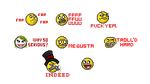 Meme Faces Emoticons by pigus123