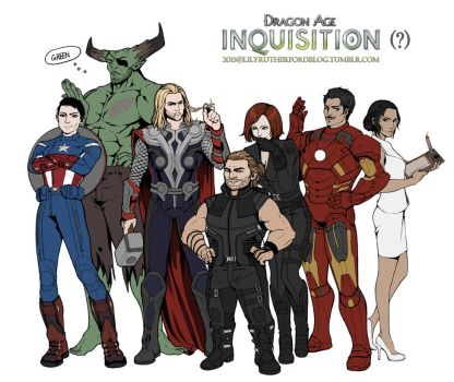 Dragon age : The avengers by LilyRutherford