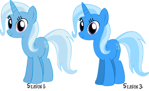 Trixie, vs Trixie. by Flutterflyraptor