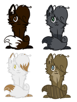 Warrior Cat Adoptables by BlossomTehKat