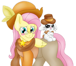 :Commission: Dr Fluttershy and Sheriff Angel by BlackBeWhite2k7